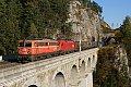 Foto zeigt:1142.623 + 1116.094, KGAG 40509, Breitenstein - Krauselklause - Krausel-Tunnel (Semmeringbahn), 31.10.2015