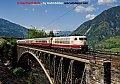 Foto zeigt: Rheingold auf der Angerschlucht-Brücke (Tauernbahn)