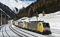 am Foto: MRCE 189.926 + Lokomotion 185.666, TEC 41857, Mallnitz-Obervellach (Tauernbahn), 23.02.2014