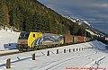 Foto zeigt: RTC 189.912 Nachschiebe beim LogServ-Stahlzug (Schneebild)