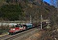 Foto zeigt:1163 mit Sammler in Schwarzach/St.Veit