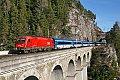 Foto zeigt: 1216.226 + CD-RailJet 8091.004, RJ 78, Breitenstein - Krauselklause - Krausel-Tunnel (Semmeringbahn)