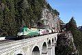 Foto zeigt: Gysev Cargo 182.570 + RTC 189.904, Breitenstein - Krauselklause - Krausel-Tunnel
