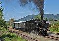 Foto zeigt: Dampfsonderzug auf einstellungsgefährdeter Rosentalbahn