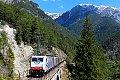 Foto zeigt: Lomo 186.444 & 186.284 mit Umleiter am Kaiserstand-Viadukt (Karwendelbahn)