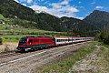 am Foto: railjet 1216.018, EC 84 (Bologna - München), Freienfeld (Brennerbahn / Südrampe)
