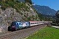 am Foto: Achensee-Lok 1216.019 mit EuroCity bei Jenbach (Unterinntal)