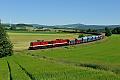 Foto zeigt: 204.425 + 204.271, Schotterzug, Marktschorgast (Bahnstrecke Bamberg-Hof), 23.6.2016