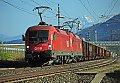 am Foto: Teleaufnahme von 1016.003 + 1016.021 mit Ganzzug in Weissenstein-Kellerberg