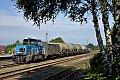 am Foto: CD Cargo 708.703 mit Güterzug im Bhf Breznice (Tschechien)