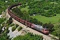 Foto zeigt: SZ 363.020 mit Nachschiebe SZ 541.015, Ganzzug bei Crnotice (Strecke Prešnica – Koper / Slowenien)