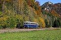 Foto zeigt: Mit dem Schienenbus in das Erzbachtal