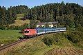 """Foto zeigt: 1116.077 """"Christof"""" vor R 1541 beim Semmelhof in Freudenthal (Summerauer Bahn)"""