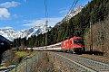am Foto: 1216.015 / E190 015 mit EC 85 bei Gossensaß (Brennerbahn)