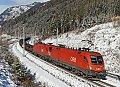 Foto zeigt: 1116.278 + 1116.187, GAG 47883, Sbl. Kolbnitz 1 (Tauernbahn), 25.01.2014