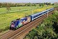 """Foto zeigt: MAV 480.006 """"Szent Márton"""" (Sankt Martin), D 345, Himberg (Ostbahn)"""