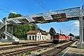 Foto zeigt: Umbau Bahnhof Langenwang noch im Gang / Bhf. Kritzendorf finalisiert