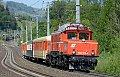 am Foto: 1020.018 mit Sonderzug bei Loifarn (Tauernbahn)