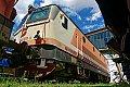 am Foto: 1044.501 - einst die schnellste Lok der ÖBB, Eisenbahnmuseum Strasshof