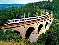 am Foto: 4010.007 + 4010.010, Ex 133 Hochosterwitz, Abfaltersbachgraben-Viadukt bei Eichberg (Semmering 1988)