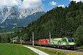 Foto zeigt: 1016.020 + 1016.015, LGAG 48401 (Voest Alpine Linz > Koper Luka), Bischofshofen (Giselabahn), 19.08.2018