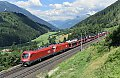am Foto: 1116.141 + 1116.136 mit Ganzzug bei Kolbnitz - Danielsberg (Tauernbahn)