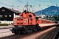 Foto zeigt: 1161.018 bei Verschubarbeiten im Bhf Schwarzach-St. Veit (1986)