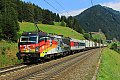 """Foto zeigt: 193.876 """"Mauerfall"""" mit Rollender Landstraße, St.Jodok (Brennerbahn)"""