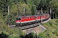 Foto zeigt: 1142.665 + 684 + 688 + 564 und 1144.214 beim Weberkogeltunnel (Semmeringbahn), 27.09.2018