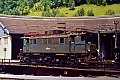 Foto zeigt:1245.521 - Typenfoto auf der Drehscheibe in Mürzzuschlag (Süd- / Semmeringbahn 1986)