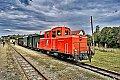 am Foto: 2091.09 mit Wackelstein-Express bei der Ankunft in Alt Nagelberg (Waldviertelbahn-Nordast)