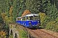 am Foto: Schienenbusse 5081.565 & 563, Fotosonderzug am Weiritzgrabenviadukt (Erzbergbahn)