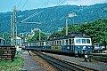 Foto zeigt: ÖBB 4030.12 (später 4030.312-5) als Personenzug im Bhf Bregenz (Vorarlbergbahn 1977)