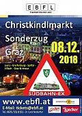 Foto zeigt: Südbahn-Express zum Grazer Christkindlmarkt