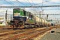 Foto zeigt: ExpressGroup 742.610 mit Kesselwagenzug im Bahnhof Břeclav (Tschechien)