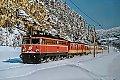 am Foto: 1042.503 mit Personenzug bei Mürzzuschlag (Südbahn), 03.03.1987