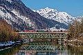 Foto zeigt: 1163.013 mit VG 75646 auf der Salzachbrücke in Bischofshofen (Ennstalbahn)