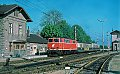 am Foto: 2143.48 + 7030.19 + 7030.309 als Personenzug, Jedlersdorf (Nordwestbahn ), 12.05.1980
