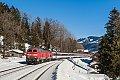 Foto zeigt: DB 218.497 + 218.498 mit EC 194 bei Knechtenhofen (Allgäubahn), 16.02.2019