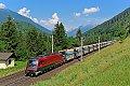 Foto zeigt: Railjet mitunter bei Güterzügen dabei