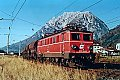 Foto zeigt: 1041.008 mit Güterzug, Stainach Irdning (Ennstalbahn), 23.10.1990