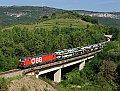 Foto zeigt: 1293.013 mit Autozug bei Rižana (Koperrampe / Slowenien)