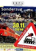Foto zeigt: Christkindlmarkt - Sonderzug 2019 - ABGESAGT!