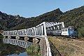 Foto zeigt: CFR 60.0652 mit R 2061 auf der Oltbrücke bei Lotru (Rumänien)