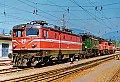 am Foto: 1043.04 + 1245.514 + 1020.17 + 1020.22 in der Zugförderung Villach (20.09.1986)