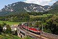 am Foto: 1142.665 + 1144.025 + 1144.012 mit DG 55509 am Schwarzatal-Viadukt (Semmeringbahn)