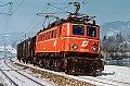 am Foto: 1040.04 mit Sammler 79052 nächst Krieglach (Südbahn), 25.02.1986