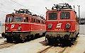 am Foto: 1042.003 neben 1041.003 bei der E-Lok Drehscheibe Zfl. Linz (Westbahn)