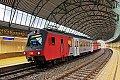 Foto zeigt: 4020.281 im Schrägstreifen-Design als S 45 in der Station Oberdöbling
