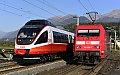 am Foto: 4024.112 + DB 101.065 - EC 114 , Spittal-Millstättersee